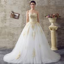 golden wedding dresses 2017 white and gold wedding dresses gown sweetheart lace up