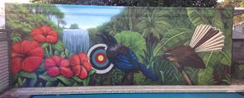 nz murals and graffiti art jonny 4higher tiger mural pool mural nz