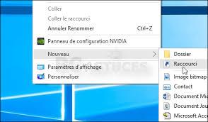 mettre un raccourci sur le bureau pc astuces créer un raccourci vers windows update windows 10