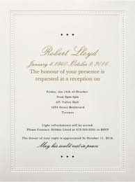 funeral invitation 39 best funeral reception invitations reception invitations and