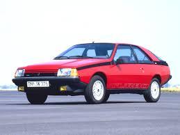 renault 1980 технические характеристики renault рено fuego 3 дв купе 5мкпп
