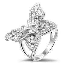rings butterfly images Platinum diamond rings 0 75 carat diamond butterfly baunat jpg