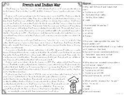french u0026 indian war differentiated reading passages u0026 questions tpt