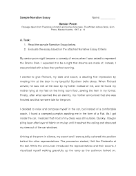 example of narration essay resume examples narrative essay thesis
