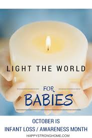 infant loss candles light the world for babies october is pregnancy infant loss