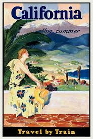 California Travel By Train images California this summer travel by train vintage poster restored jpg