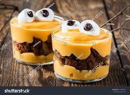 halloween treats little monster dessert chocolate stock photo