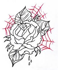 tattoo sketches neo traditional rose outline 2 by vikingtattoo