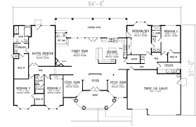 5 bedroom floor plans 1 story clever design ideas house plans with bathrooms in all bedrooms 13