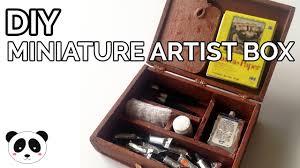 diy miniature artist paint box and supplies