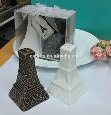 eiffel tower favors 2016 newest party supplies eiffel tower design ceramic salt and