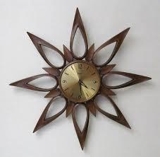 Herman Miller Clocks Vintage Mid Century Starburst Clock Syroco By Daveysvintage