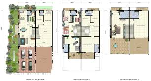 Double Bedroom Independent House Plans Baby Nursery House Plans Three Story Awesome Storey Terrace