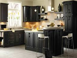 Black Cabinet Kitchen Ideas by White And Dark Cabinets In Kitchen Awesome Home Design