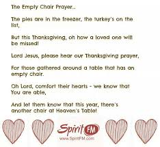 empty chair thanksgiving prayer festival collections