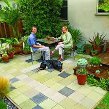 Backyard Ideas On A Budget Patios by Budget Patchwork Patio Patios Concrete Pavers And Exterior