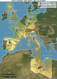 Map Of Libya Libya Crossed Crocodiles
