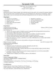 sample resume of security guard security guard cover letter