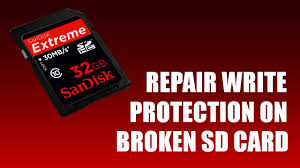 s card how to repair write protection on sd card