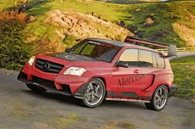 mercedes rally the mercedes benz glk at sema the renntech glk pikes peak rally
