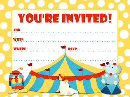 circus birthday invitation choice image invitation design ideas