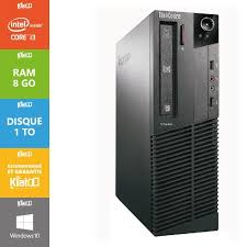 pc bureau i3 pc bureau lenovo thinkcentre i3 8 go ram 1 to disque dur