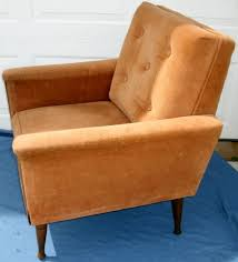 Tufted Upholstered Chairs Vintage Mid Century Modern Danish Modern Upholstered Arm Chair W