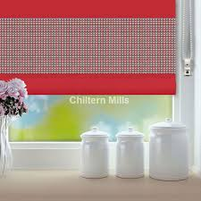 red roller blinds diamante chiltern mills