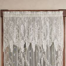wisteria arbor lace window treatments wisteria arbor insert valance 56 x 18