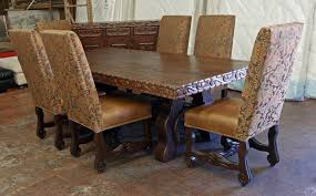 Beautiful High Back Dining Room Chairs Photos Home Design Ideas - Leather and fabric dining room chairs