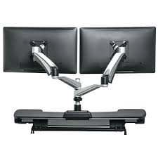 stand up desk multiple monitors dual monitor standing desk prt stnding duldual monitor stand up desk