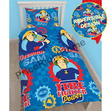 Childrens Bedroom Bedding Sets Fireman Sam Bedding Single Double U0026 Junior Duvet Cover Sets Boys