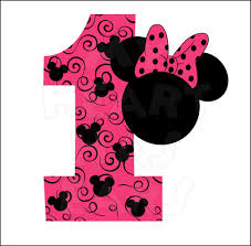 minnie mouse birthday minnie mouse 1st birthday pink instant digital clip