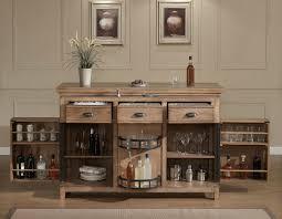 Espresso Bar Cabinet Furniture Brown Varnished Cherry Home Bar Liquor Cabinet Combined