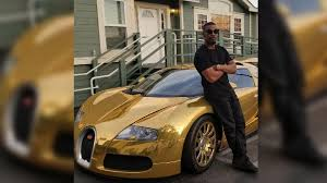 bugatti gold and jamie foxx turned his bugatti veyron gold