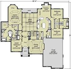 ranch floor plans with 3 car garage one story house plan with split bedrooms ranch floor plans