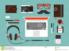 Designer Desk Accessories by Hipsters Accessories Stock Vector Image 39232527