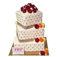 wedding cake shop 2089 3 tier wedding cake with diamond shaped accents abc cake