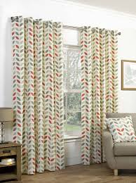 Living Room Curtains On Ebay Neo Geometric Modern Leaf Print Lined Eyelet Curtains Ready Made