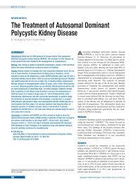 the treatment of autosomal dominant polycystic kidney disease