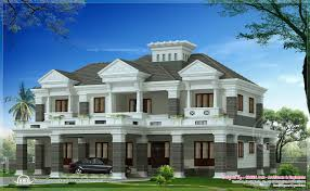 luxury homes floor plans 2 different luxury house elevations with bifurcated stair kerala