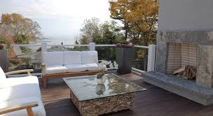Deck Coffee Table - steps up to deck transitional deck patio