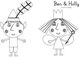 ben and holly colouring pages coloring pages kids