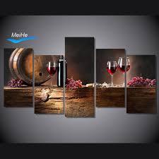 chambre de d馗ompression hd imprimé ordinaire verres à vin peinture sur toile chambre