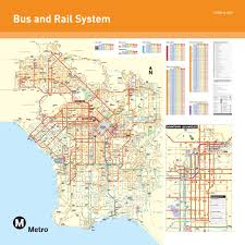 la metro rail map official map los angeles metro and rail transit maps