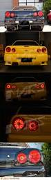 nissan gtr with your coin money red clear led tail lights for nissan r34 skyline coupe gts t gt r