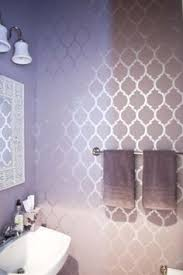 bathroom stencil ideas love the purple and metallic wallpaper master bedroom accent wall