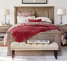 Bedroom Sale Furniture by Linden Wood Paneled Bed Pottery Barn