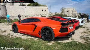 Lamborghini Aventador Matte Black - orange lamborghini aventador adv5 0 track spec cs series wheels
