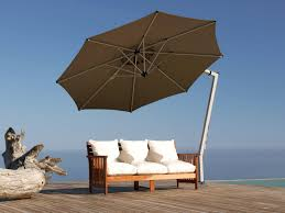 furniture inspiring cantilever patio umbrella in blue with metal